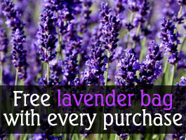 Free lavender bag with every purchase